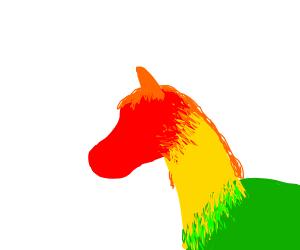Semi-colorful horse