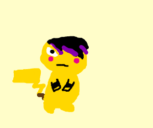 """Emo Pikachu """"It's not a phase, mom!"""""""