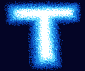 Letter T Made Of Blue Fire Drawception