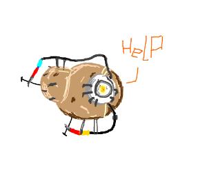 Potato cries for help