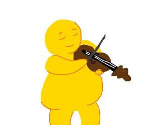 Fat Guy Playing Violin