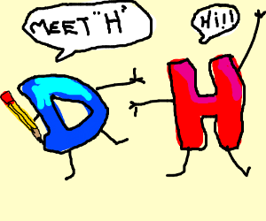 "Drawception ""D"" introduces his cousin ""H"""