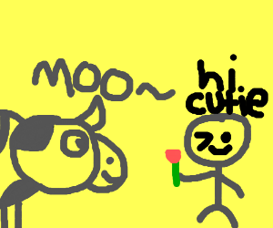 Cow gets hit on