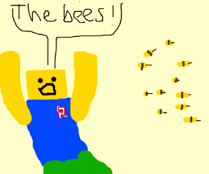 Noob being chased by bees