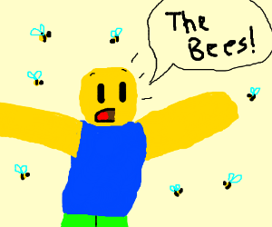 Roblox noob yells the bees! (Bees are there)