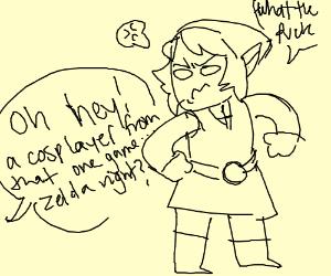 Link slightly bitter for being called Zelda