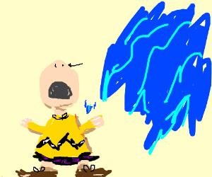 Charlie Brown is upset