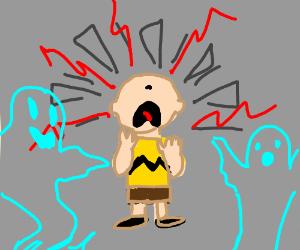 Charlie Brown has ghostly crisis