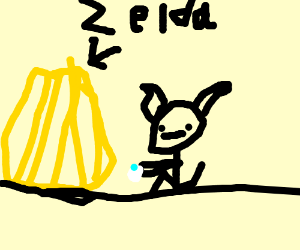 zelda is proposed to by a shady elf