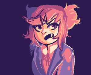 Natsuki is an angry vampire