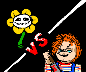 flowey vs chucky drawception