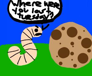 worm interrogates cookie