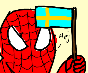 Spiderman is from Sweden now.