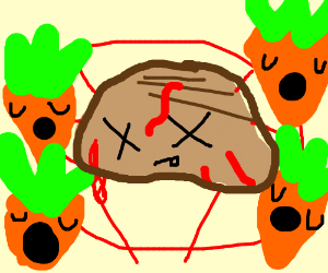 cult of carrots sacrificing steak