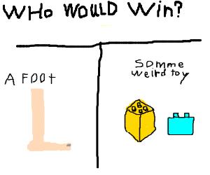 foot vs Lego