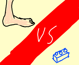 Who would win? Foot vs One Lego Boi