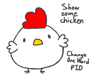 Show some love (change one word PIO)