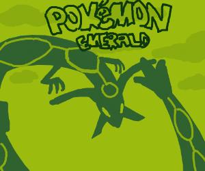 Pokémon intro screen on vintage gameboy