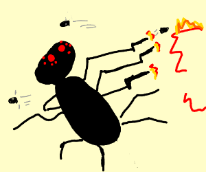 action like scene for a deadly spider