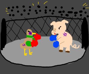 pig vs duck on pay per view