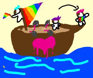 Gay Sail Boat Rider