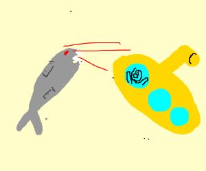 Robotic Shark fights Submarine