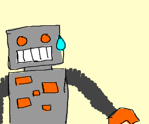 Telepathy with robot makes him sweat