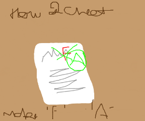 How2 Cheet- Cross out F-make it A!