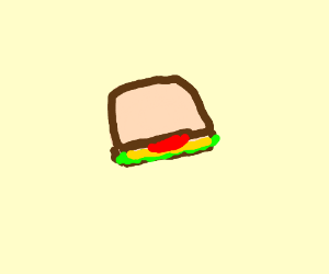 A sandwich with lettuce, cheese and tomato