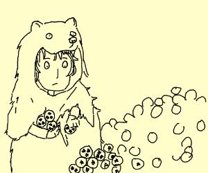 bear man gathers the dragonballs