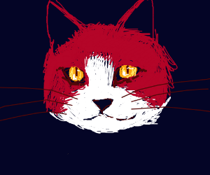 realistic cat with long wiskers