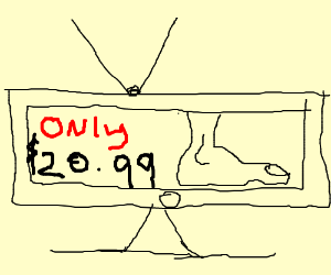 A foot on tv