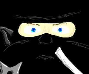 Intense ninja man