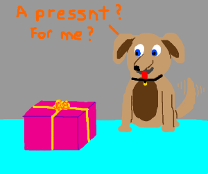 a pressnt for a dog