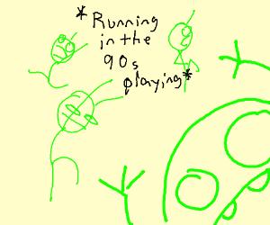 dancing and singing green man