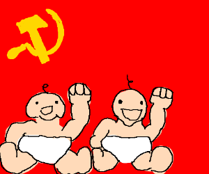Toddlers support communism