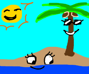 Happy tropical island