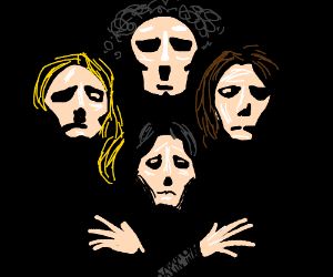 Insanely good drawing of the band, Queen