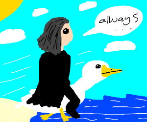 Professor Snape Riding a Duck