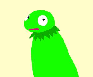 green lizard/sock puppet