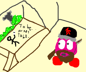 Communist Kirby watching Shakespeare