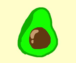 A half of an avocado