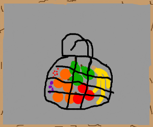 Fruits in a bag