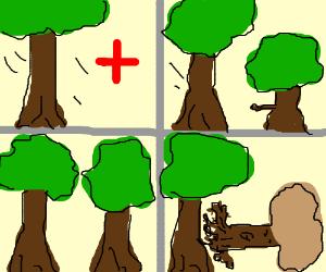 trees needing to go to hospital