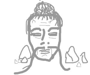 Sensei's head turned to stone