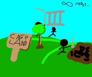 Lots of things are happening in cage land