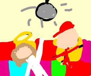 Jesus having a dance off