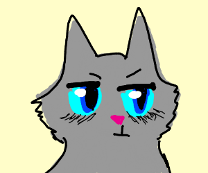 Cat with neon eyes hasn't slept for a week