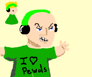 angry pewdiepie fan protecting his lord