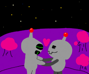 Space robot love